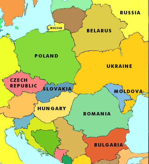East Europe Map Countries | casami